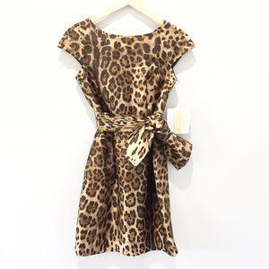 NWT 100% Silk Cheetah Dress